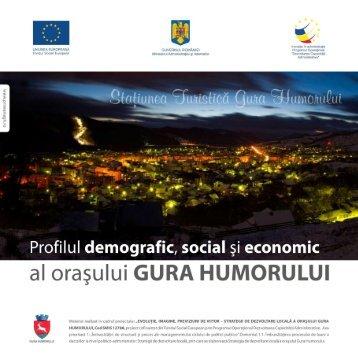 Profilul demografic, social si economic al orasului GURA HUMORULUI
