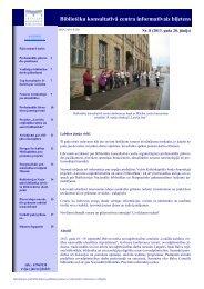 Bibliotēku konsultatīvā centra informatīvais biļetens - Academia