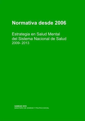 Normativa desde 2006 - Asociación Aragonesa Pro Salud Mental