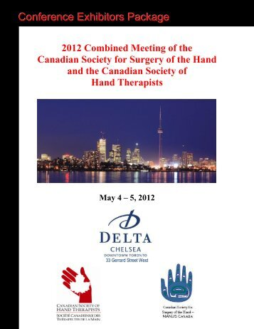 Conference Exhibitors Package - Canadian Society of Hand ...