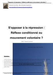 S'opposer à la répression : Réflexe conditionné ou ... - Non Fides