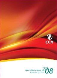 Relatório Anual 2008 - Grupo CCR