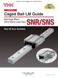 Caged Ball LM Guide Models SNR/SNS