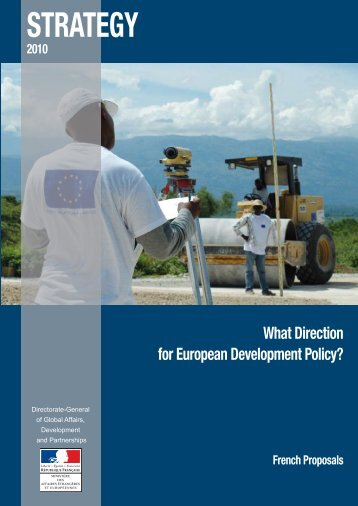 What direction for european development policy - France-Diplomatie ...
