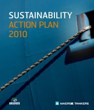 SUSTAINABILITY ACTION PLAN 2010 - Maersk Tankers
