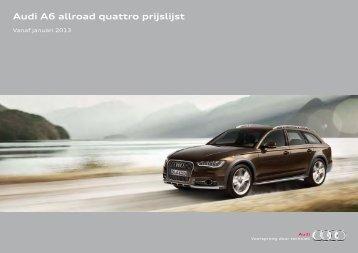 Audi A6 allroad quattro prijslijst - Fleetwise