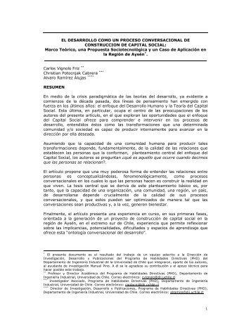 EL DESARROLLO COMO UN PROCESO CONVERSACIONAL DE ...