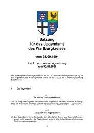 51-1 Satzung Jugendamt - Wartburgkreis