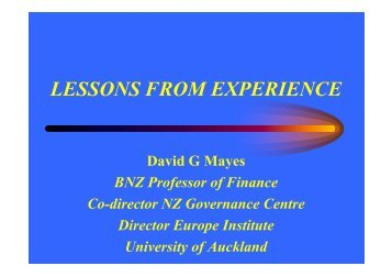 Lessons from experience (38.5KB)
