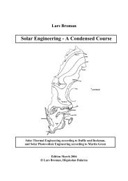 Solar Engineering - A Condensed Course