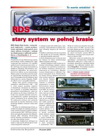 RDS - stary system w pełnej krasie, cz. 1 (112KB) - Elportal
