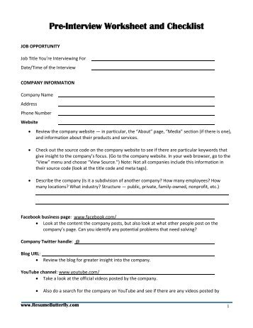 Job Search Handbook Resume Butterfly