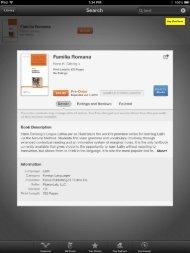 Lingua Latina Familia Romana preview of the iPad Edition