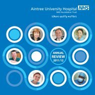 Annual Review - Aintree University Hospitals NHS Foundation Trust