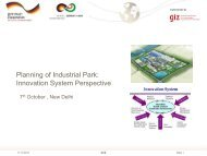 Planning of Industrial Park: Innovation System Perspective - IGEP.in