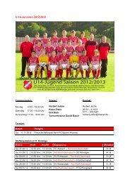 U 14-Junioren 2012/2013 - SKV Rot-Weiss Darmstadt