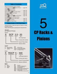 CP Racks & Pinions
