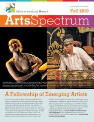 A Fellowship of Emerging Artists - Office for the Arts at Harvard