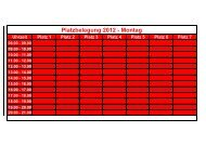 Platzbelegung 2012 - Montag - SKV Rot-Weiss Darmstadt