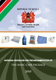 Basic Care Package 2010 - Kenya National AIDS & STI Control ...