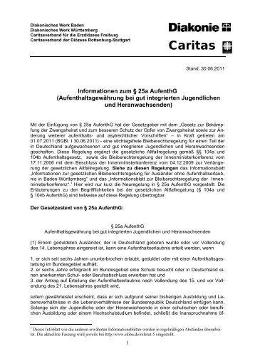 Informationen zum § 25a AufenthG - Aktion Bleiberecht