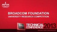 Project Presentations - Broadcom Foundation