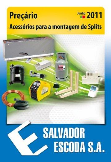 Preçário - Acessórios Montagem Splits - Salvador Escoda SA