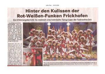 Lahn-Post 13.02.2010 - Tanzcorps Rot-Weisse Funken Frickhofen