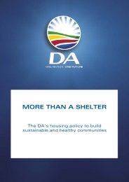 Housing - more than just a shelter.pdf - Democratic Alliance
