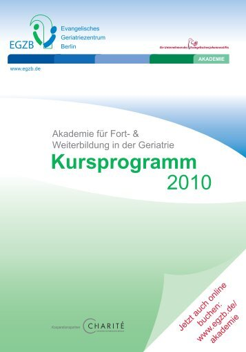 Kursprogramm 2010 - Evangelisches Geriatriezentrum Berlin
