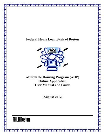 AHP Online Application - Federal Home Loan Bank of Boston