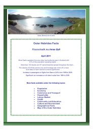 Fact Cards 2011 - Comhairle nan Eilean Siar