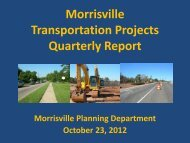 Morrisville Transportation Projects Quarterly Report - Town of ...