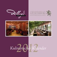 Kulinarischer Kalender - Bar-Lounge Wolbergs