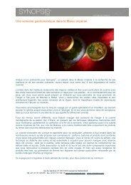 Le Maroc gastronomique - Synopsism