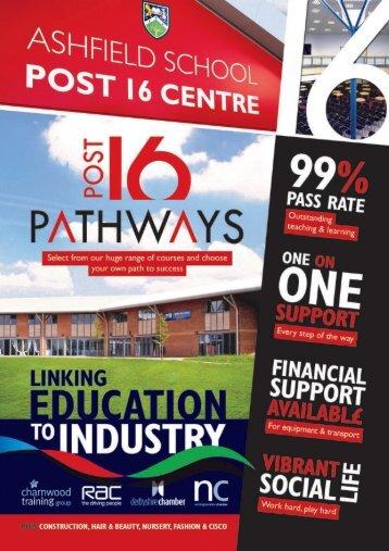 Download our Post 16 Prospectus Here - Ashfield School