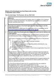 Minutes of the Hinchingbrooke Next Steps public meeting 23 ...