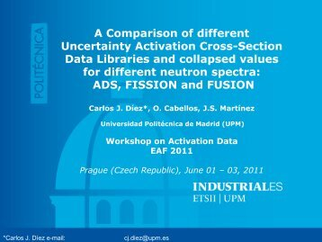 A Comparison of different Uncertainty Activation Cross-Section Data ...