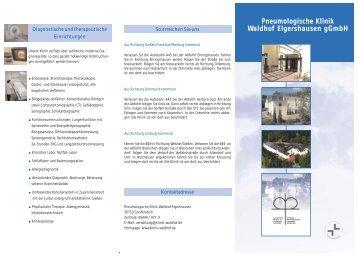 Pneumologische Klinik Waldhof Elgershausen gGmbH - Praxis Page