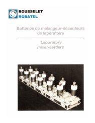 Mixer-settler brochure - Rousselet Robatel