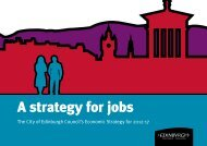 A strategy for jobs: the City of Edinburgh Council's economic ...