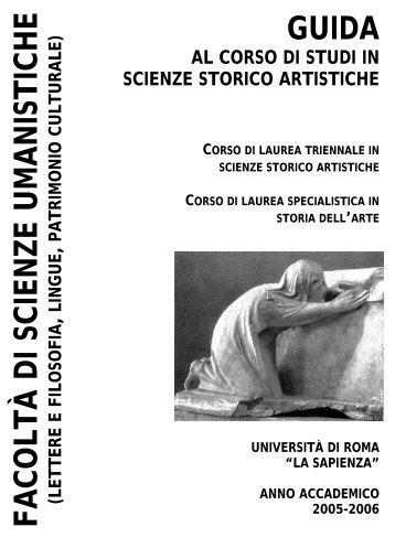 Storia dell'arte - Facoltà di Scienze Umanistiche - Sapienza