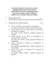 FUNDACION MEXICANA PARA LA SALUD PREMIOS ... - Funsalud