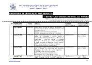 estrutura organizacional da pmcsa. - Prefeitura municipal do Cabo ...