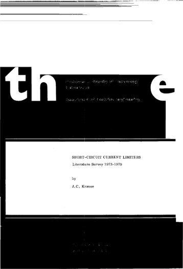 Literature Survey 1973-1979 J.C. Krause - Tu/e