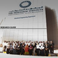 research projects - The Petroleum Institute