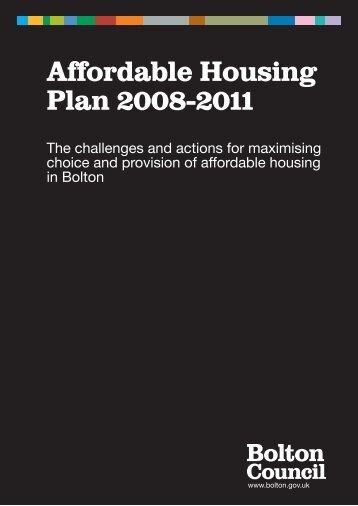 Affordable housing plan - Bolton Metropolitan Borough Council