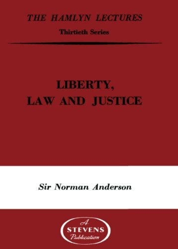 liberty, law and justice - College of Social Sciences and International ...