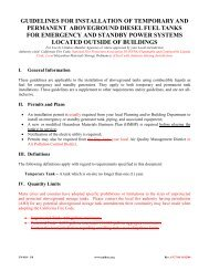 Unidocs Guidelines for Installation of Aboveground Fuel Tanks for ...