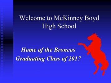 Welcome to McKinney Boyd High School